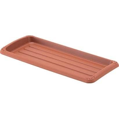 クイーンプレート 450型 ブラウン [長角型受皿]