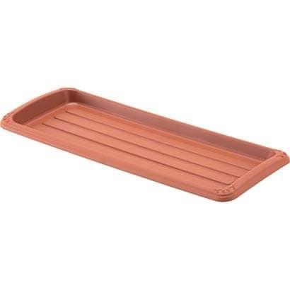 クイーンプレート 550型 ブラウン [長角型受皿]