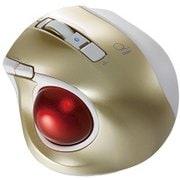 MUS-TBLF134GL [レーザー式 小型静音オートスピード Bluetoothトラックボールマウス 5ボタン ゴールド]