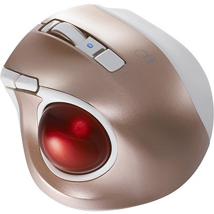MUS-TBLF134P [レーザー式 小型静音オートスピード Bluetoothトラックボールマウス 5ボタン ピンク]