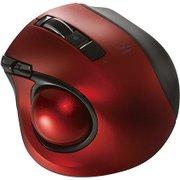 MUS-TBLF134R [レーザー式 小型静音オートスピード Bluetoothトラックボールマウス 5ボタン レッド]