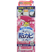 らくハピ 水まわりの防カビスプレー ピンクヌメリ予防 ローズの香り 本体 [400mL]