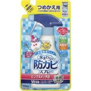 らくハピ 水まわりの防カビスプレー ピンクヌメリ予防 フレッシュフローラルの香り つめかえ用 [350mL]