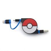 CHE-245-BL [cheero 2 in 1 Retractable USB Cable with Lightning & micro USB POKEMON version 70cm ブルー]