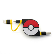 CHE-245-YE [cheero 2 in 1 Retractable USB Cable with Lightning & micro USB POKEMON version 70cm イエロー]