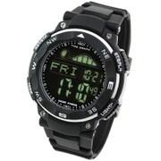 LAD019bkbk [TIDEGRAPH MASTER ムーングラフ/タイドグラフ/満潮/干潮/デジタル 腕時計 ブラック(反転液晶)]