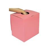 BIG抽選箱&投票箱 ピンク [幅30×奥行24.5×高さ31.5cm]
