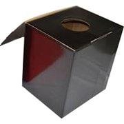 BIG抽選箱&投票箱 黒 [幅30×奥行24.5×高さ31.5cm]