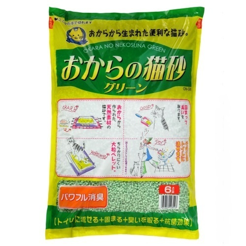 おからの猫砂グリーン 6L