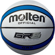 BGR6WB [バスケットボール ゴム製6号球 GR6 ホワイト×ブルー BGR6WB]