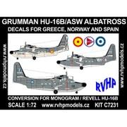 1/72 エアクラフト改造パーツセット HU-16B アルバトロス 対潜哨戒機 (ギリシャ、ノルウェー、スペイン) [プラモデル]