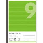 NT49-GR [NOTESFOLIO(ノーツフォリオ) A4 9ミリ罫 40枚 グリーン]