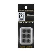 ZH-EP1M-SK [イヤーピース1 Mサイズ スケルトンブラック 6個入]