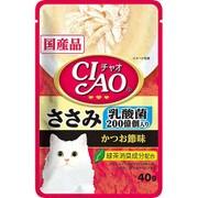 チャオパウチ 乳酸菌入り ささみかつお節味 40g [キャットフード]