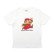 スーパーマリオ Tシャツ ドットマリオ ジャンプ WH S [キャラクターグッズ]