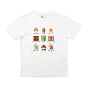 スーパーマリオ Tシャツ マリオ ドット集合 WH S [キャラクターグッズ]