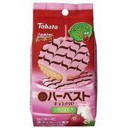 東ハト ハーベストチョコメリゼ いちごミルク 8枚(2枚×4包) [ビスケット菓子 1袋]