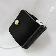 Gee's 牛革製・Wホックイヤフォンケース ブラック