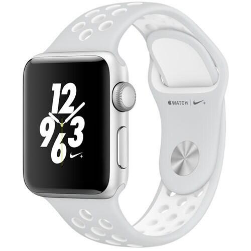 Apple Watch Nike+ - 38mm シルバーアルミニウムケースとピュアプラチナ/ホワイトNikeスポーツバンド