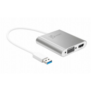 JUA360 [USB 3.0 to Dual VGA & HDMI マルチモニターアダプター]