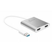 JUA365 [USB 3.0 to Dual 4K & 2K HDMI Dual モニターアダプター]