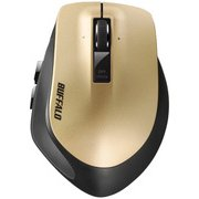 BSMLW500MGD [Premium Fit(プレミアムフィット)マウス 無線(2.4GHz) レーザー式  5ボタン 横スクロール Mサイズ ゴールド]