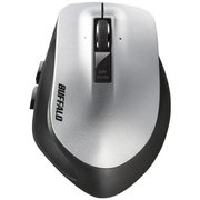 BSMLW500MSV [Premium Fit(プレミアムフィット)マウス 無線(2.4GHz) レーザー式  5ボタン 横スクロール Mサイズ シルバー]