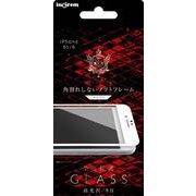 IN-P6FSG/CW [iPhone 6/6s Aegis Guardian 液晶保護ガラスフィルム 9H 全面保護 角割れしないソフトフレーム 光沢 ホワイト]