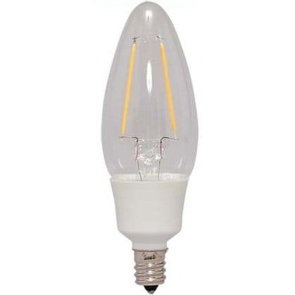 LDC2L-G-E12-FC [LEDフィラメント電球 E12 25W相当 非調光 シャンデリア球 クリアタイプ 電球色]