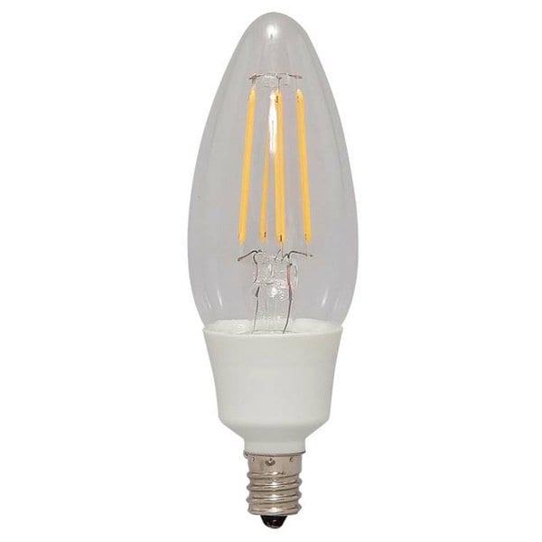 LDC3L-G-E12-FC [LEDフィラメント電球 E12 40W相当 非調光 シャンデリア球 クリアタイプ 電球色]