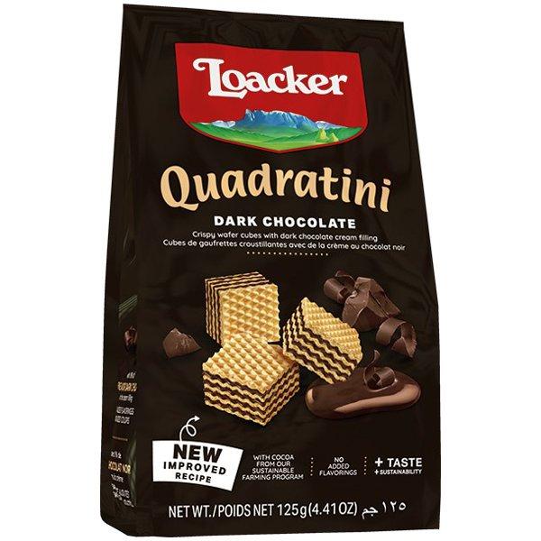 クワドラティーニ ダークチョコレート 125g [ウエハース]