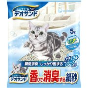 デオサンド 香りで消臭する紙砂 ナチュラルソープの香り 5L [猫用トイレ・衛生用品]