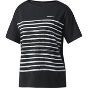DKK15-BS0421-J/L [HM ボーダーTシャツ W レディース トレーニングウェア J/Lサイズ ブラック]