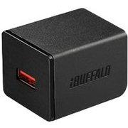 BSMPA2402P1CBK [2.4A USB急速充電器 AUTO POWER SELECT機能搭載 1ポートタイプ Type-Cケーブル付 ブラック]