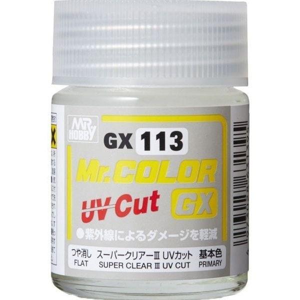 GX113 [Mr.カラーGX シリーズ スーパークリアー III UVカット つや消し FLAT 18ml]