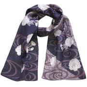 はんかちスカーフ 桜-紫
