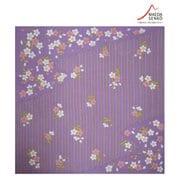 和心 あぶらとりハンカチ 縞桜 紫