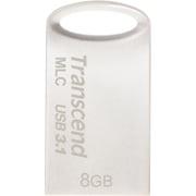 TS8GJF720S [USBメモリ MLC採用 8GB USB3.1&USB 3.0 キャップレス シルバー 耐衝撃 防滴 防塵 2年保証]