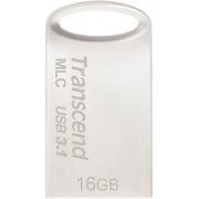 TS16GJF720S [USBメモリ MLC採用 16GB USB3.1&USB 3.0 キャップレス シルバー 耐衝撃 防滴 防塵 2年保証]