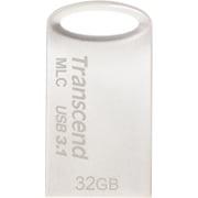 TS32GJF720S [USBメモリ MLC採用 32GB USB3.1&USB 3.0 キャップレス シルバー 耐衝撃 防滴 防塵 2年保証]