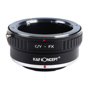 KF-CYX [一眼レフカメラ用 レンズマウントアダプター ブラック ボディ側:富士フイルムX レンズ側:ヤシカ・コンタックス]