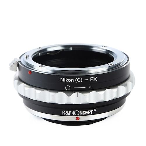 KF-NGX [一眼レフカメラ用 レンズマウントアダプター ブラック×シルバー ボディ側:富士フイルムX レンズ側:ニコンF(Gタイプ対応)]