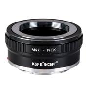 KF-42E2 [一眼レフカメラ用 レンズマウントアダプター ブラック ボディ側:ソニーE レンズ側:M42]