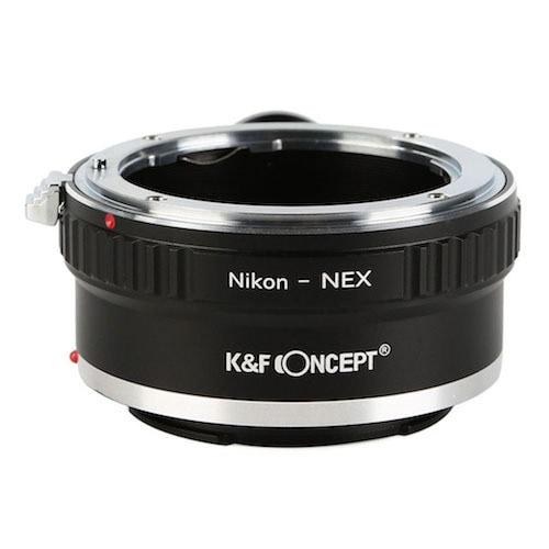 KF-NFE-T [一眼レフカメラ用 レンズマウントアダプター ブラック ボディ側:ソニーE レンズ側:ニコンF]