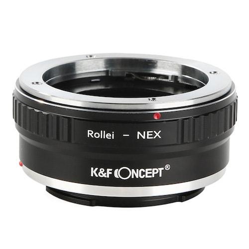 KF-QBME [一眼レフカメラ用 レンズマウントアダプター ブラック ボディ側:ソニーE レンズ側:ローライQBM]