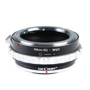 KF-NGM43 [一眼レフカメラ用 レンズマウントアダプター ブラック×シルバー ボディ側:マイクロフォーサーズ レンズ側:ニコンF(Gタイプ対応)]