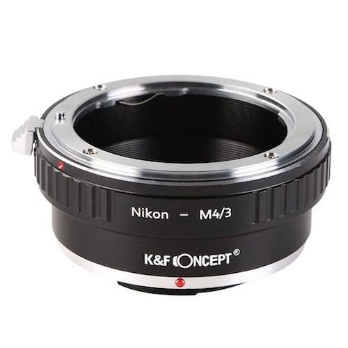 KF-NFM43 [一眼レフカメラ用 レンズマウントアダプター ブラック ボディ側:マイクロフォーサーズ レンズ側:ニコンF]