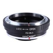 KF-FDM43 [一眼レフカメラ用 レンズマウントアダプター ブラック ボディ側:マイクロフォーサーズ レンズ側:キヤノンFD]
