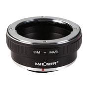 KF-OMM43 [一眼レフカメラ用 レンズマウントアダプター ブラック ボディ側:マイクロフォーサーズ レンズ側:オリンパスOM]