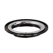 KF-NFEF [一眼レフカメラ用 レンズマウントアダプター ブラック ボディ側:キヤノンEF レンズ側:ニコンF]